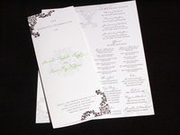 image of Amanda La Wedding Program