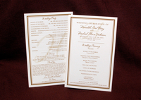 image of Meredith B Wedding Program